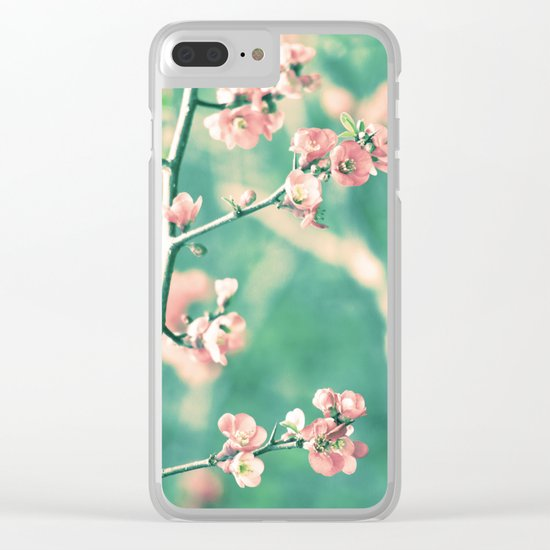 Softly Spring Love Clear iPhone Case