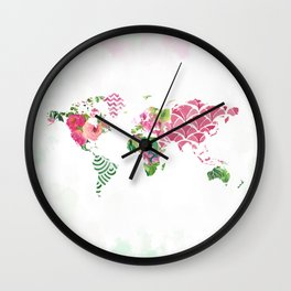 Tropical Map Wall Clock