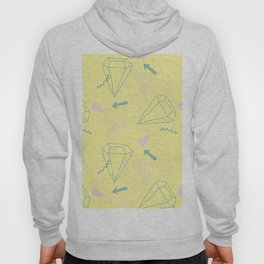 Memphis Pattern - Gemetrical  Retro Art in Yellow and Pink - Mix & Match With Simplicity Of Life Hoody