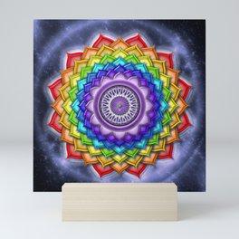 "Sahasrara Chakra Rainbow Lotus - Series ""Open Chakra"" Mini Art Print"
