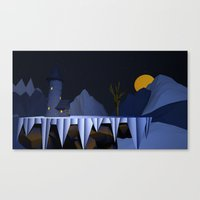 dark tower Canvas Prints featuring Dark Tower by Vouokeck