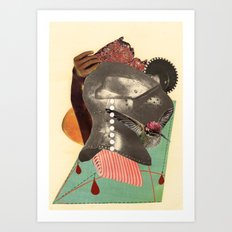 he said he was on the verge of a discovery so terrific that he doubted his own sanity Art Print