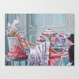 Marie Antoinette Eats Cake Canvas Print