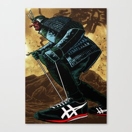 Samurai in Sneakers Canvas Print
