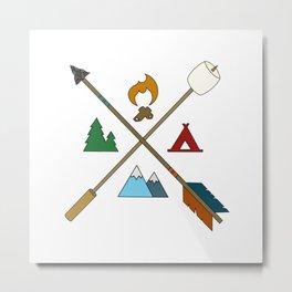 Let's Camp2.0 Metal Print