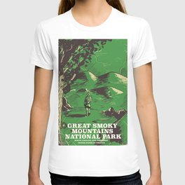 Great Smoky Mountains National Park vintage travel poster T-shirt