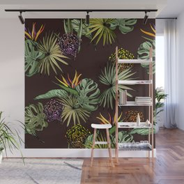 Tropical leaves Wall Mural