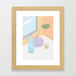 Glass, water and a window Framed Art Print