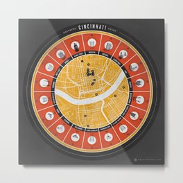 Cincinnati Drinking Guide Metal Print
