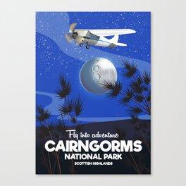 Cairngorms National park travel poster Canvas Print