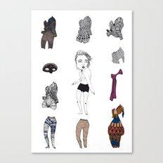 Paperdoll #1 Canvas Print