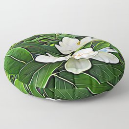 White Flowers of the Purest Essence Floor Pillow