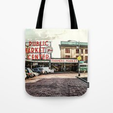 Seattle Pike Place Market Tote Bag