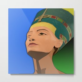 Ancient Relics: Nefertiti Metal Print
