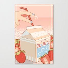 Strawberry Milk • いちごミルク Canvas Print