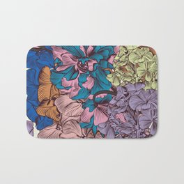 Petunia flowers in vintage style. Vector illustration Bath Mat