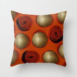 ORANGE RED GOLD Throw Pillow