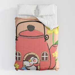 White Mouse's Teapot House Comforters