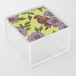Purple Wild Rose Acrylic Box
