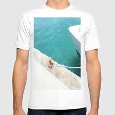 Boat Green Mens Fitted Tee White MEDIUM