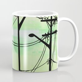 Industrial poles yellow green Coffee Mug