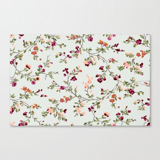 floral vines - neutrals Canvas Print