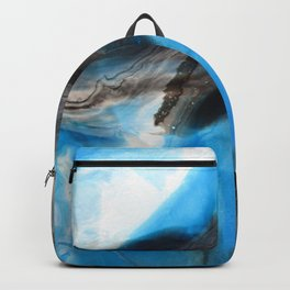 Tourmaline Blue - Original Abstract Painting Backpack