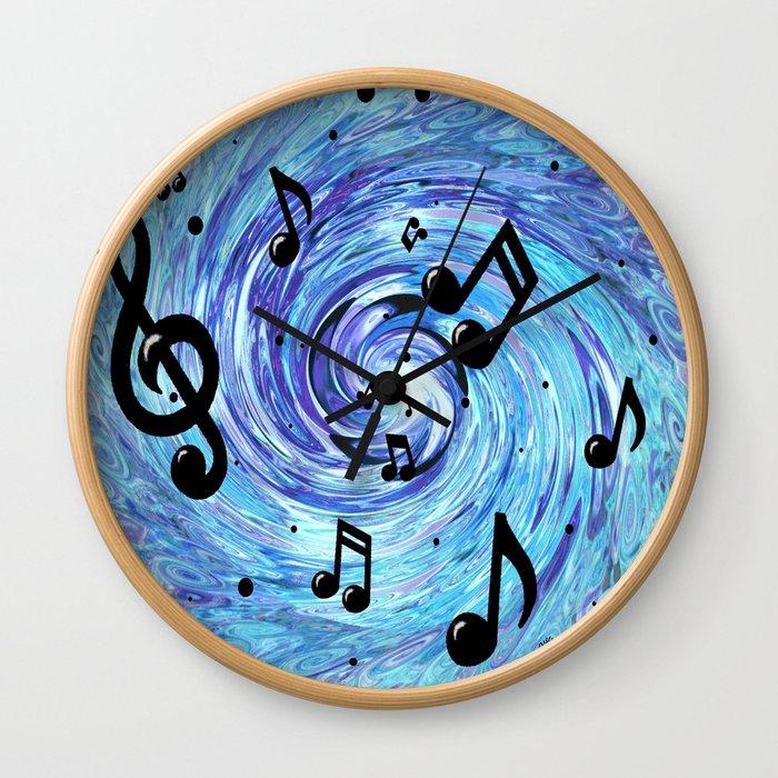 Musical Blue Wall Clock