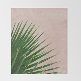 Summer Time | Palm Leaves Photo Throw Blanket