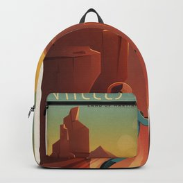 Travel Poster Valles Mariners (2015) Backpack