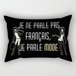 Je ne parle pas français Rectangular Pillow