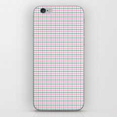 Gingham pink and forest green iPhone & iPod Skin