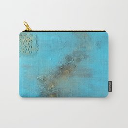 Earth. Texture. Blue. Jodilynpaintings. Brown. Abstract. Earths Crust. Carry-All Pouch