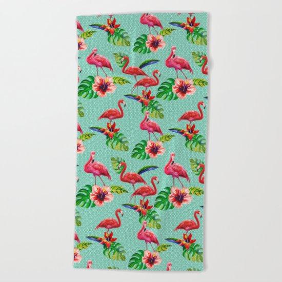 Flamingos Beach Towel