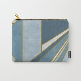 Travel to nowhere in blue (abstract geometric marble) Carry-All Pouch