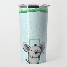 Cutie Parachuting Elephant Travel Mug