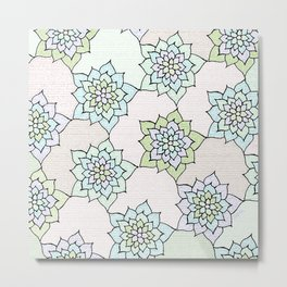 zakiaz white lotus Metal Print
