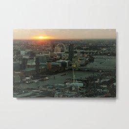 London Red-Eye Metal Print