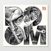doom Canvas Prints featuring DOOM by Jonathan Bruns Fine art