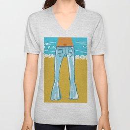 Sexy Blue Jeans Unisex V-Neck