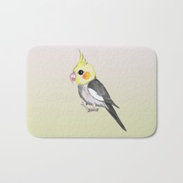 Very cute cockatiel Bath Mat
