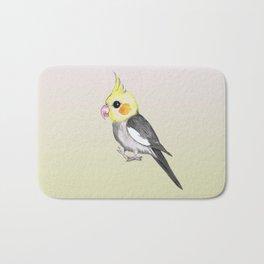 Very cute cockatiel Bath Mat