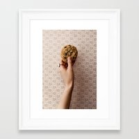 cookie Framed Art Prints featuring Cookie by Jenny James