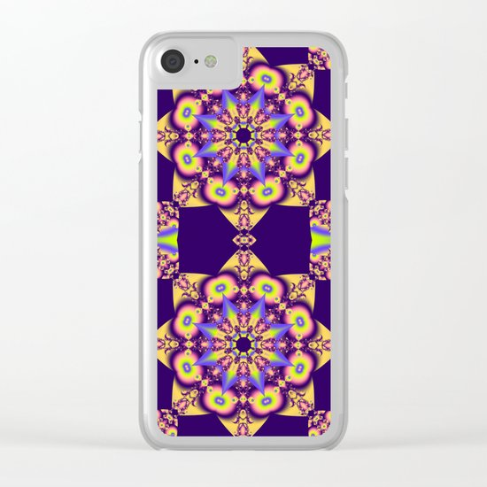 Decorative double star kaleidoscope Clear iPhone Case