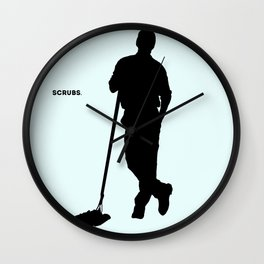 Janitor Scrubs Wall Clock