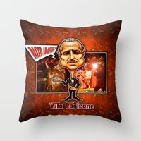 the godfather Throw Pillows featuring The Godfather concept! by Emanpris Artcore