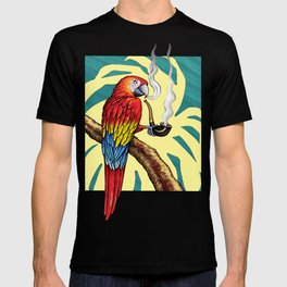 Smokin parrot .... where is my pipe ??? T-shirt