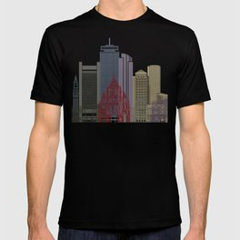 Boston skyline poster T-shirt