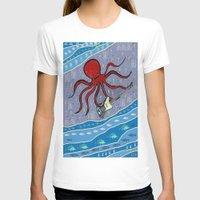bass T-shirts featuring squid bass by Huiskat