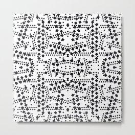 black square elements Metal Print